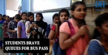 Students brave long queues to collect BMTC pass