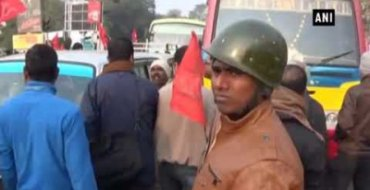 Scuffle between CPM & TMC workers during Bharat Bandh