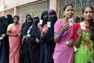 The average voting percentage in the 26 constituencies reached 28% at 1 pm, way below the state average of 36%. (PTI photo)