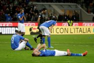 A sideline story for downcast Italy