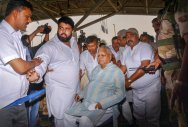 Lalu rushed to hospital, discharged after a couple of hours