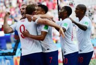 JUMPING THE GUN! Although England have beaten only lowly Tunisia and Panama so far, their media were quick to hail them as favourites for the title. AFP