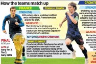France, Croatia set for game of their lives