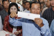 Cambodia's ruling party set to win all seats in polls