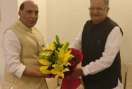 Raman Singh calls on Rajnath, Shah
