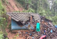 Rain inundates houses in low-lying areas