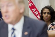 President Donald Trump and his former White House aide Omarosa Manigault Newman. Reuters file photo.