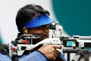 Deepak Kumar of India competes. (REUTERS)