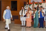 BJP CMs meet to chalk out poll strategy