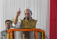 No curb on people's democratic rights: Rajnath Singh