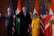 Ahead of 2+2 meet, Sushma, Nirmala meet Pompeo, Mattis