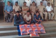 3 from AP held with 19 kg ganja