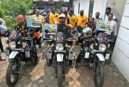 Bikers spread awareness about afforestation