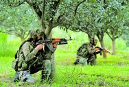 Three soldiers, two militants killed along LoC in J&K