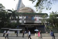 Sensex ends in red after choppy trade