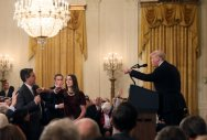 Journo loses press credentials for clashing with Trump