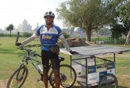 Engineer to ride the city on solar bicycle