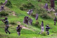Militant killed, two soldiers injured along LoC