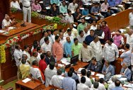Legislature disrupted over loan waiver, North Karnataka