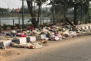 Sheelavanthakere Lake bund road turns into dump site