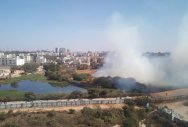 Fire breaks out near Yeklgata lake