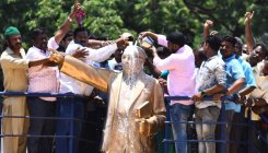 Ambedkar statue 'cleansed' with milk