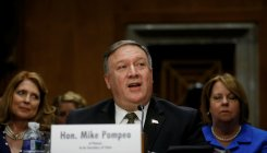 CIA Director Mike Pompeo testifies before a Senate Foreign Relations Committee confirmation hearing on Pompeo's nomination to be secretary of state on Capitol Hill in Washington, DC, U.S., April 12, 2018. Reuters.
