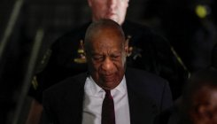 Actor and comedian Bill Cosby leaves court after a day of deliberations in his sexual assault retrial at the Montgomery County Courthouse in Norristown, Pennsylvania, U.S., April 25, 2018.