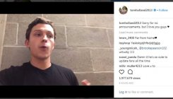 Tom Holland reveals 'Spiderman 2' title in Insta gaffe