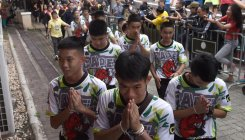 Thai cave boys recount ordeal in public appearance