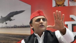Samajwadi Party chief Akhilesh Yadav in Bhopal. (PTI file photo)