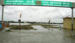 Heavy discharge from TB dam causes floods