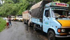 Heavy vehicles banned on Charmadi Ghat