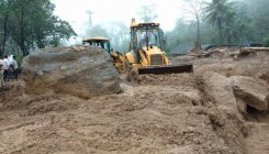 Road restoration begins at landslide spots