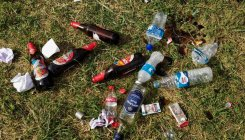 Post cultural event, trash strewn at Central College