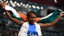 Hima Das wins 400m silver in national record time