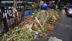 Mayor leads massive post-Varamahalakshmi cleanup