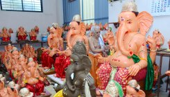Clay Ganeshas with enamel paint are harmful too