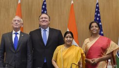 '2+2 Dialogue 'defining moment' for Indo-US relations'
