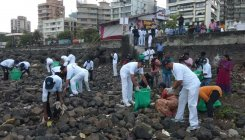 Coast Guard conducts beach clean up in Mumbai