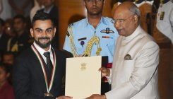 Virat Kohli, Mirabai Chanu honoured with Khel Ratna