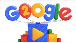 Google celebrates 20th birthday with a doodle