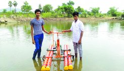 Polytechnic students invent bicycle that moves on water