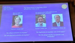 Briton, two Americans win 2018 Nobel Chemistry Prize
