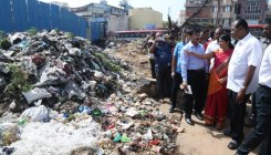 City mayor inspects Kalasipalyam bus stand