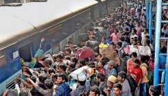 Rlys stations and bus terminus burst with festival rush