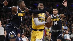 Watch: LeBron's triple-double leads Lakers past Nuggets
