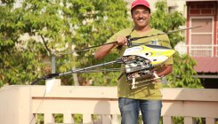 Bengalurean demonstrates helicopter drone flight