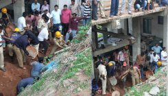Bulding collapse in Madikeri, 2 dead