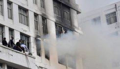 Fire breaks out at high-rise office building in Kolkata